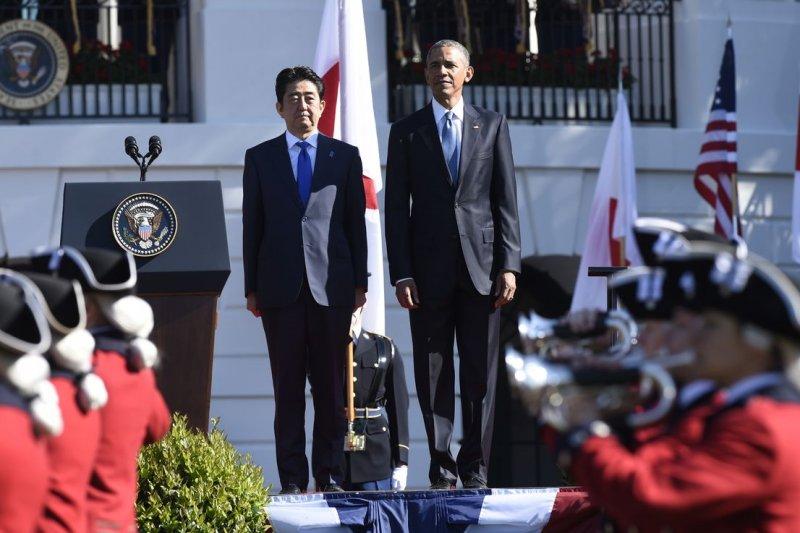 日本首相安倍晉三今年4月訪問美國,與歐巴馬總統會面。