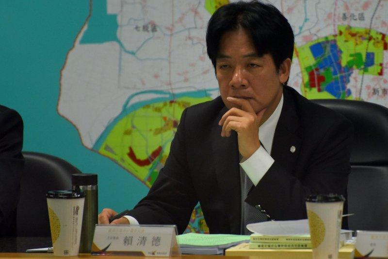 台南市長賴清德14日主持南鐵都計變更案
