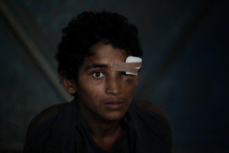 漂流海上、淪為難民的緬甸羅興亞人(Rohingya)。