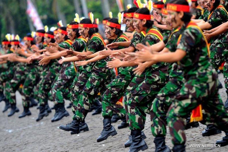 印尼女兵。