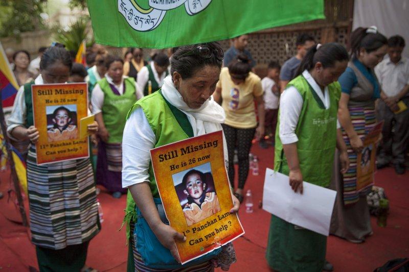 流亡藏人17日發起尋找第11世班禪活動。(美聯社)