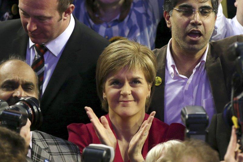 蘇格蘭首席部長、「蘇格蘭民族黨」(SNP)領袖史特金(美聯社)