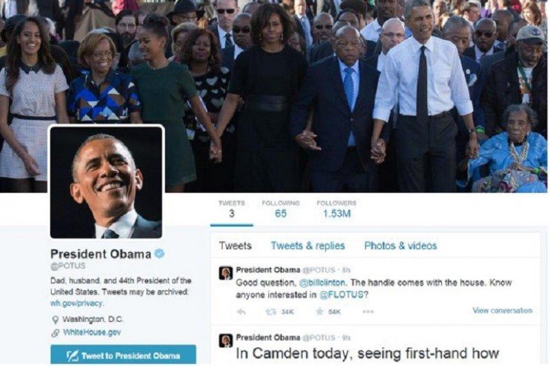 美國總統歐巴馬有了個人推特帳號。