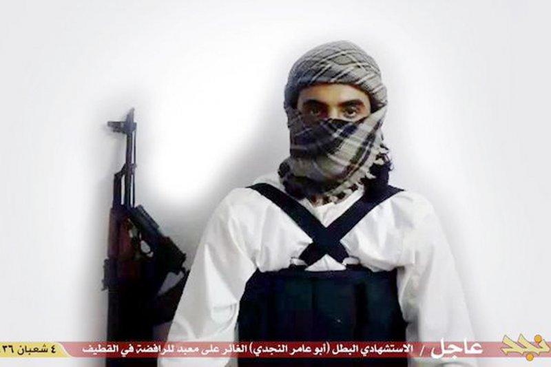 伊斯蘭國公佈的恐怖分子照片。(美聯社)