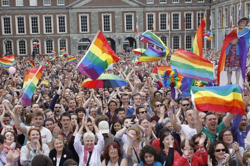 愛爾蘭成為全球首個公投同志婚姻合法的國家。(美聯社)