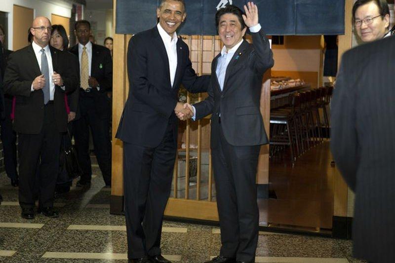 歐巴馬訪日。(美聯社)