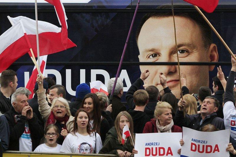 波蘭新任總統杜達(Andrzej Duda)的支持者
