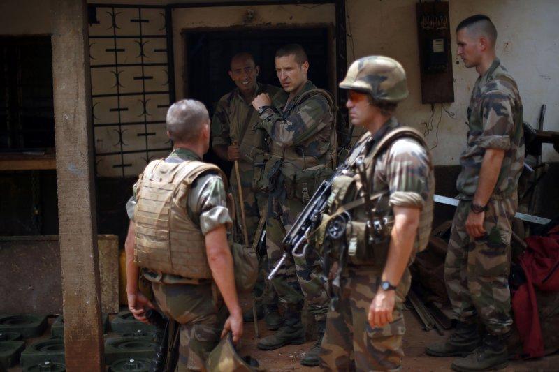 戍守在中非共和國當地的法國軍隊。(美聯社)
