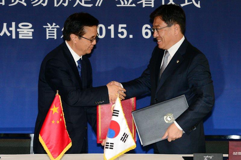 中韓正式簽署FTA。(翻攝網路)