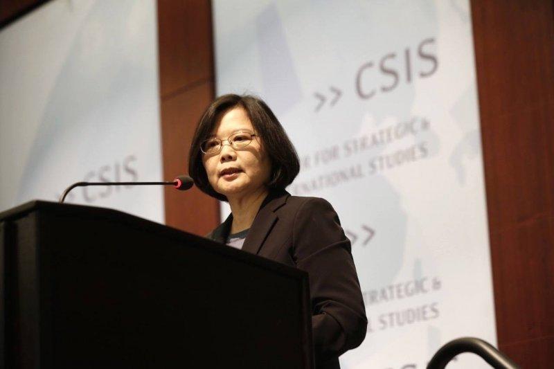 民進黨黨主席蔡英文在華府智庫CSIS演講(取自臉書)