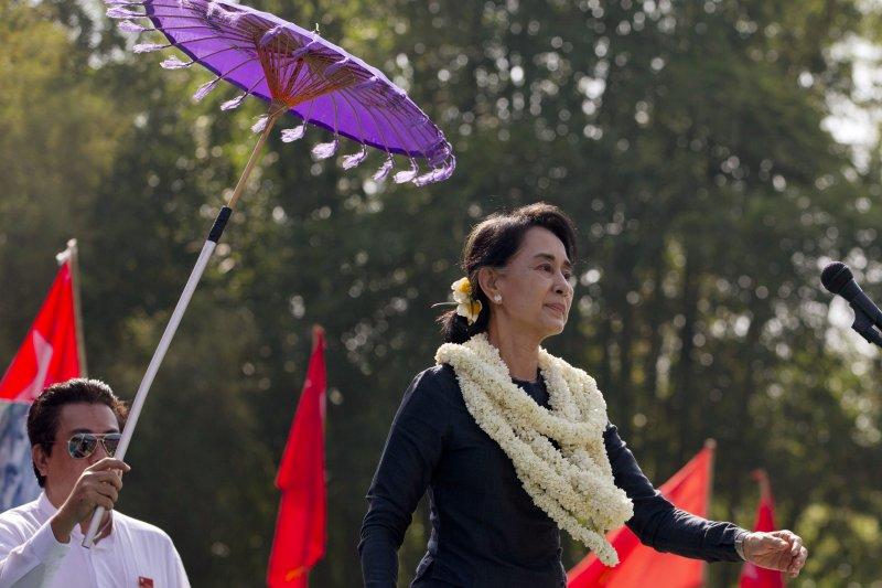 緬甸反對黨領袖翁山蘇姬10日啟程訪問中國。(美聯社)