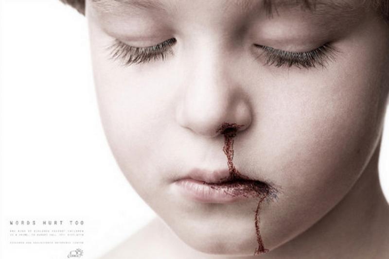 圖為國外防治暴力的廣告。(creative digital agency)