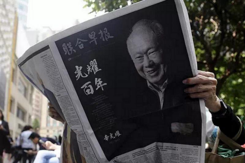 李光耀一生,創造了新加坡的奇蹟,也曾讓新加坡下獄無數。(取自微信)