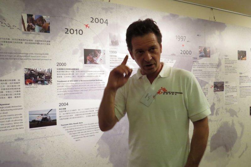 MSF香港總幹事卡磊明(林育菱、簡紹琪攝)