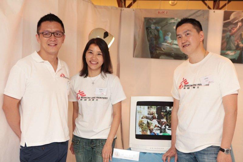 (左起)無國界醫生(香港)主席兼麻醉科醫生劉鎮鯤、麻醉科醫生陳鈞婷,以及首位來自台灣的無國界醫生救援人員宋睿祥。(顧哲銘/地球圖輯隊攝)(MSF提供)
