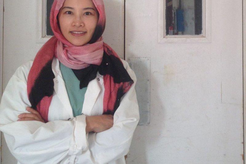 陳鈞婷去年12月前往巴基斯坦亨古的一間醫院擔任麻醉科醫生,為期1個半月。(Tomochiro Anzai攝,MSF提供)