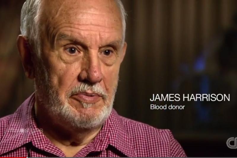 詹姆斯哈里森(James Harrison)是一位義務捐血者(圖/擷自youtube)