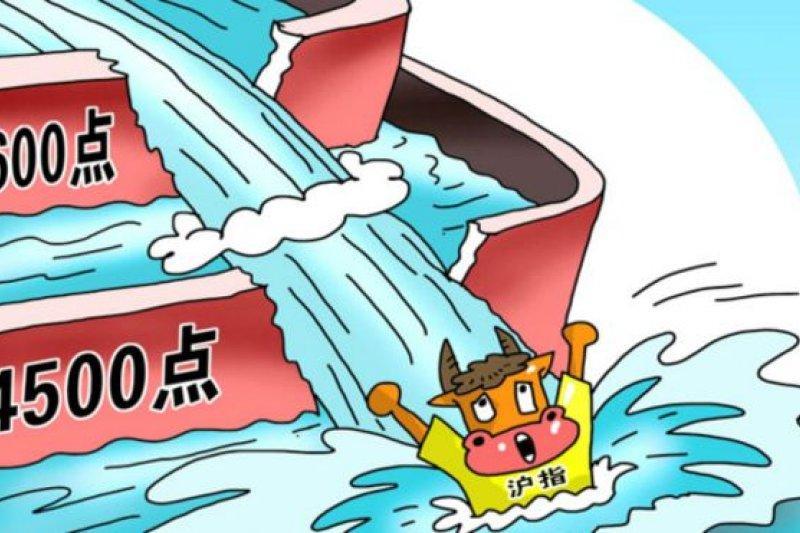 到了上周,中國股市又出現自從2008年以來的最大跌幅,一周內中國股市就持續下跌了超過13%(新華社漫畫圖表)。(BBC中文網)