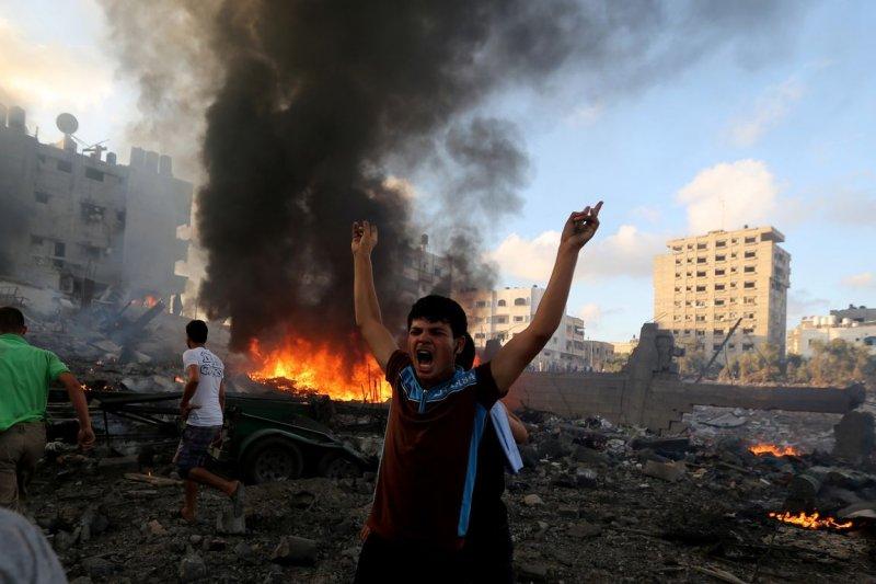 2014年的加薩戰亂,再度點燃年輕一任巴勒斯坦人的怒火。(美聯社)