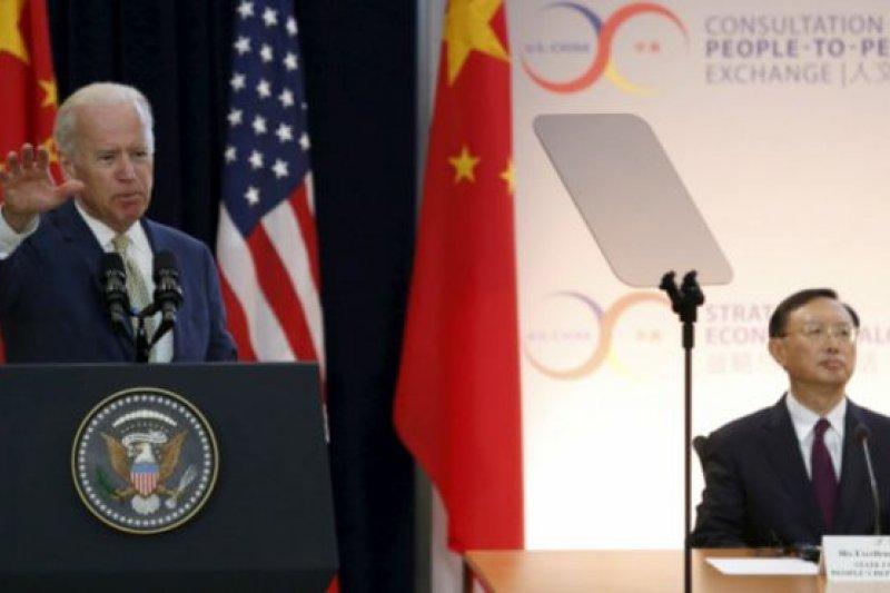 拜登警告說,置外交努力於不顧,訴諸恐嚇手段解決爭端,或者對侵略行徑視而不見的國家,只會帶來區域不穩定局勢。(BBC中文網)