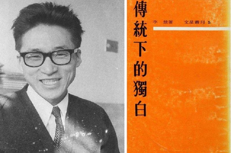 1963年寫下《傳統下的獨白》的李敖。