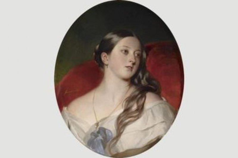 阿爾伯特說,德國畫家弗朗茲·溫德爾哈爾特(Franz Winterhalter)的這幅畫是他最喜歡的一幅維多利亞畫像(圖片來源:Corbis)