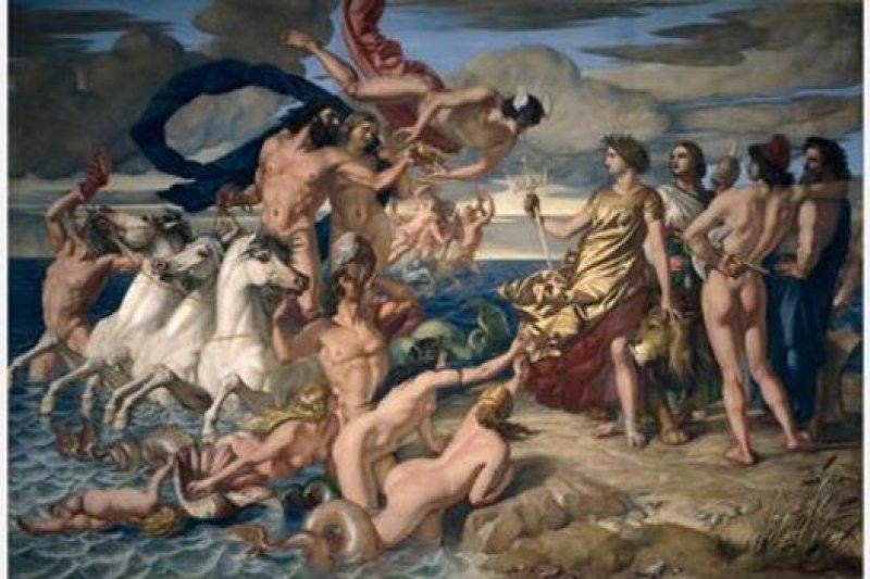 蘇格蘭畫家威廉·戴斯創作了《海神授予英國治海權》,暗示英國在維多利亞時期取得了海上霸權(圖片來源:Alamy)