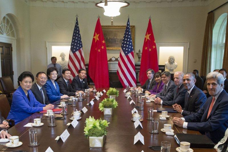 第7屆中美戰略經濟對話25日於美國華府展開。(美聯社)