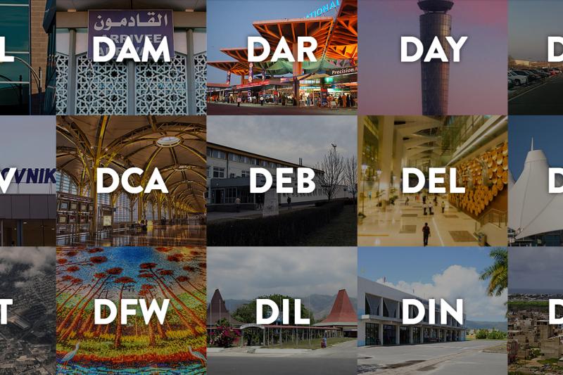 如果沒有搞清楚機場代碼,差一個字就可能差一個國家,相隔十萬八千里(圖/airportcod.es)