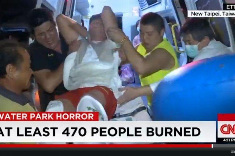 八仙水上樂園爆炸案,1日又有10位病患住進加護病房。(翻攝自電視)