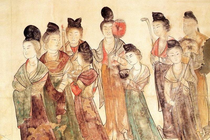乾陵永泰公主墓發現的唐壁畫。(中國博物館官網)