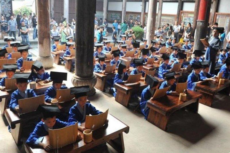 中國近年掀起國學熱。(新京報博博)