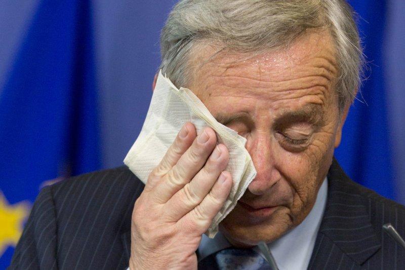 歐洲領導人對希臘的反覆無常甚為感冒,圖為歐盟執委會主席容克(Jean-Claude Juncker)。(美聯社)