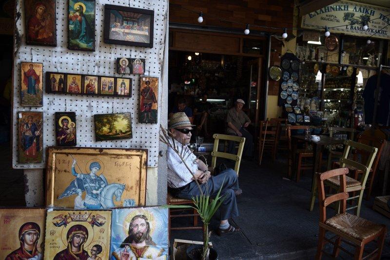 希臘的咖啡館。(美聯社)