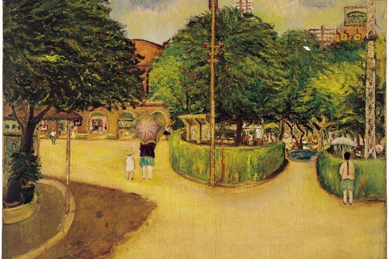 夏日街景-陳澄波-1927-畫布·油彩-79×98cm-台北市立美術館典藏-取自維基百科.jpg