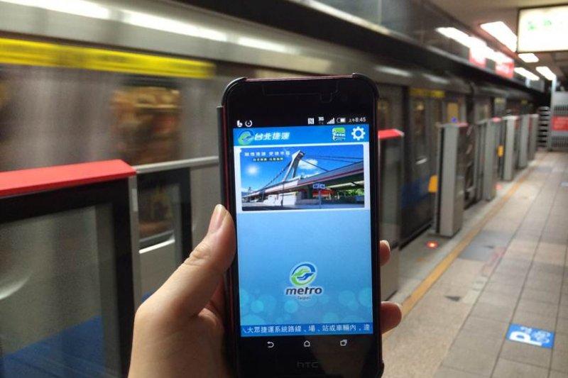 「台北捷運Go」APP供民眾查詢列車進站時間。(北捷提供)