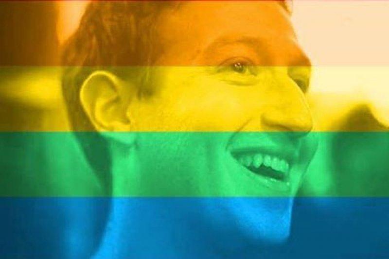 臉書創辦人 Mark Zuckerberg 也換上了彩色的頭貼(圖/Mark Zuckerberg)