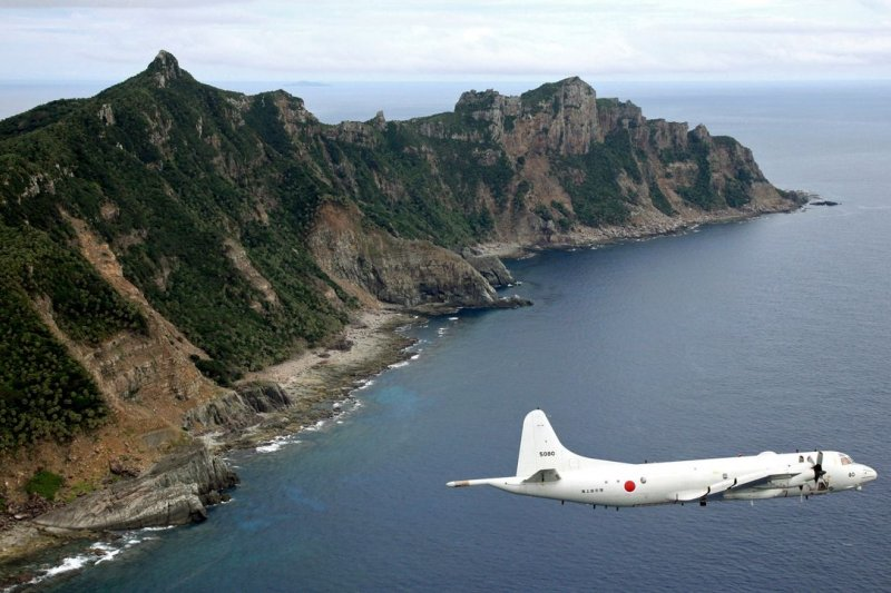 日本海上自衛隊偵察機飛越釣魚台(美聯社)