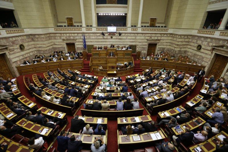 希臘國會表決通過新的改革方案。(美聯社)