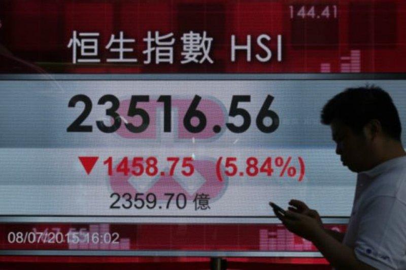 香港金融大幅震蕩。(BBC中文網)