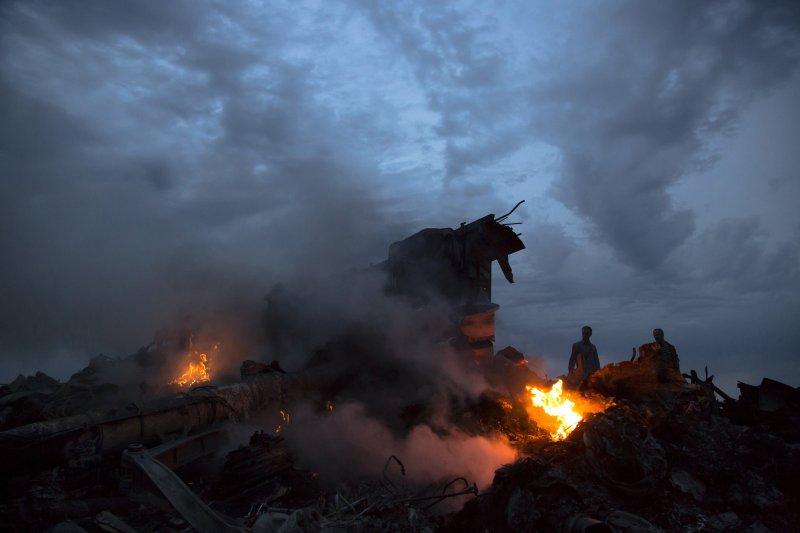 馬航MH17失事現場。(美聯社)