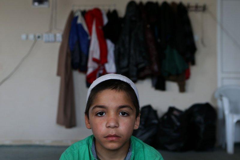 逃出訓練營的伊斯蘭國娃娃兵阿瑪德(Ahmad)。(美聯社)