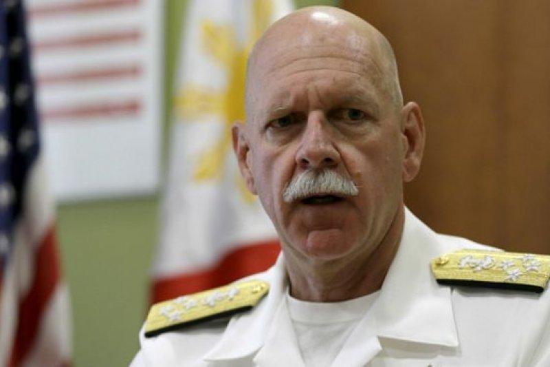美軍太平洋艦隊司令斯威夫特向盟國保證,美軍裝備精良,隨時凖備應對南中國海的任何緊急狀況。(取自BBC中文網)