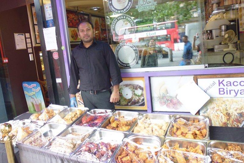 倫敦的孟加拉小吃店 (白曉紅 攝)