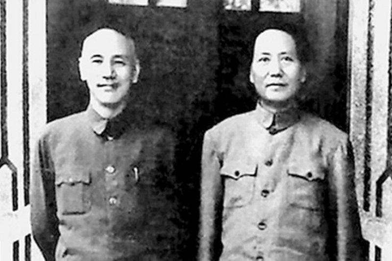 蔣介石和毛澤東,影響中國的兩大人物。(中華網)