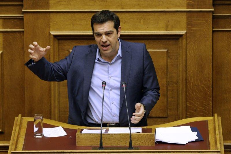 希臘國會通過第二波改革方案,齊普拉斯。(美聯社)