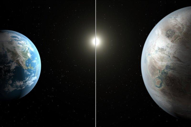 Kepler-452b,一顆近似地球的太陽系外行星。(NASA)