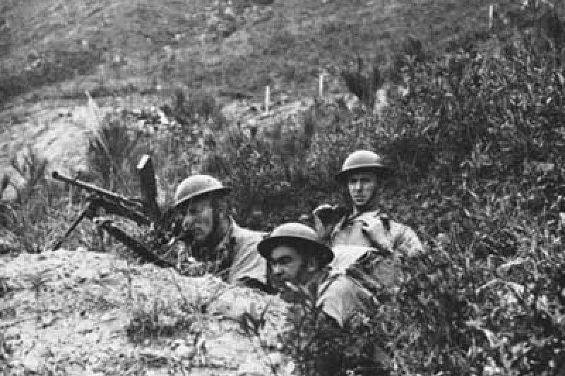 香港保衛戰中的加拿大士兵。(維基百科)