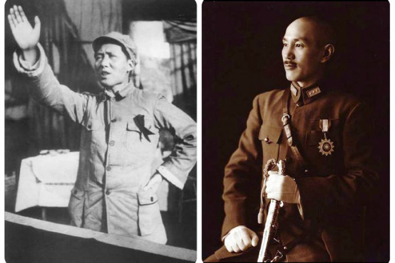 毛澤東(左)、蔣介石抱著迥異理想建國,如今兩岸民眾對於國家的想法,也有著天壤之別。