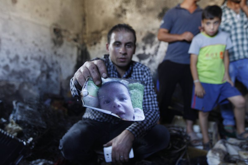 以色列極端分子攻擊巴勒斯坦人住宅,造成一名1歲半男嬰慘死。(美聯社)